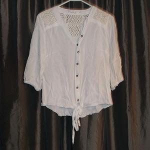Solitaire tie front blouse size M